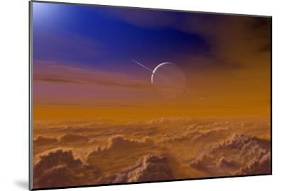 Saturn From the Surface of Titan-Chris Butler-Mounted Photographic Print
