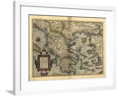 Ortelius's Map of Greece, 1570-Library of Congress-Framed Photographic Print