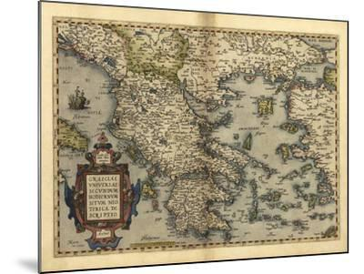 Ortelius's Map of Greece, 1570-Library of Congress-Mounted Photographic Print