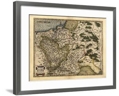 Ortelius's Map of Poland, 1570-Library of Congress-Framed Photographic Print