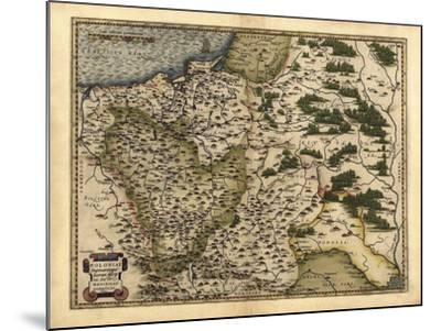 Ortelius's Map of Poland, 1570-Library of Congress-Mounted Photographic Print