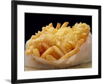 Close Up of Fried Fish & Chips-Tony Craddock-Framed Photographic Print