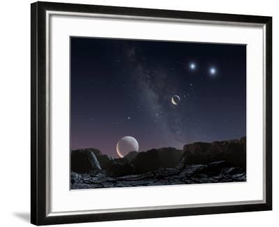 View From An Alien Planet, Artwork-Chris Butler-Framed Photographic Print
