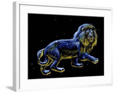 Constellation of Leo, Artwork-Chris Butler-Framed Photographic Print