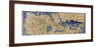 Al-Idrisi's World Map, 1154-Library of Congress-Framed Photographic Print