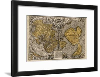 Oronce Fine's World Map, 1531-Library of Congress-Framed Photographic Print