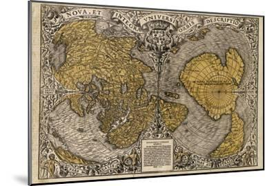 Oronce Fine's World Map, 1531-Library of Congress-Mounted Photographic Print