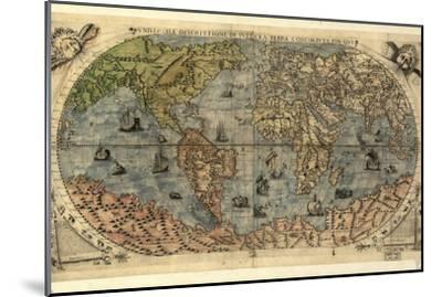 16th Century World Map-Library of Congress-Mounted Photographic Print