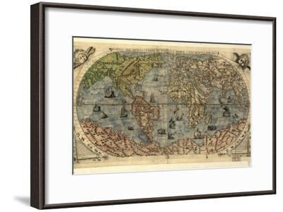 16th Century World Map-Library of Congress-Framed Photographic Print