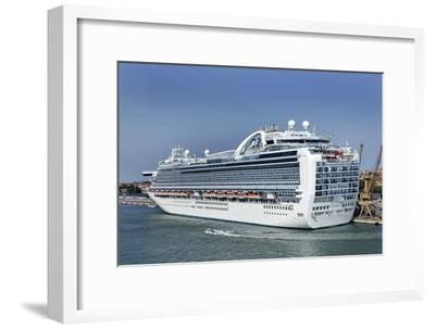 MS Ruby Princess Cruise Ship-Tony Craddock-Framed Photographic Print