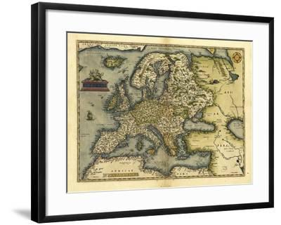 Ortelius's Map of Europe, 1570-Library of Congress-Framed Photographic Print