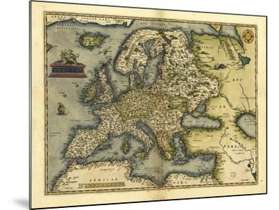 Ortelius's Map of Europe, 1570-Library of Congress-Mounted Photographic Print