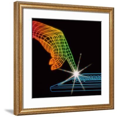 Computer Keyboard-Tony Craddock-Framed Photographic Print