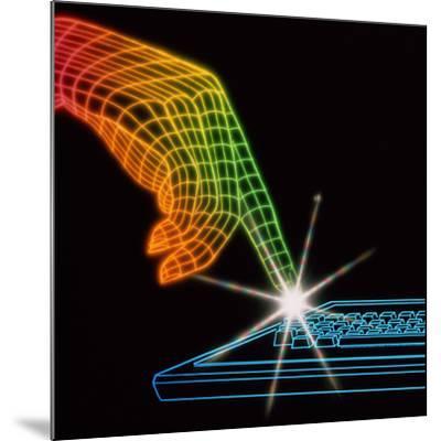 Computer Keyboard-Tony Craddock-Mounted Photographic Print