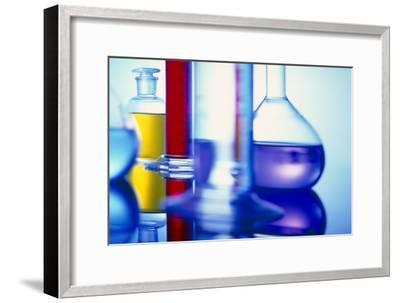 Assortment of Laboratory Glassware-Colin Cuthbert-Framed Photographic Print