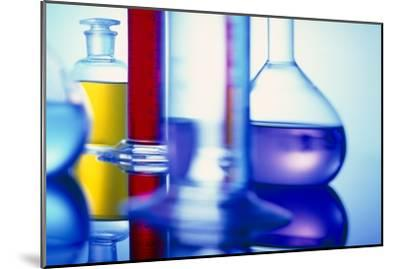 Assortment of Laboratory Glassware-Colin Cuthbert-Mounted Photographic Print