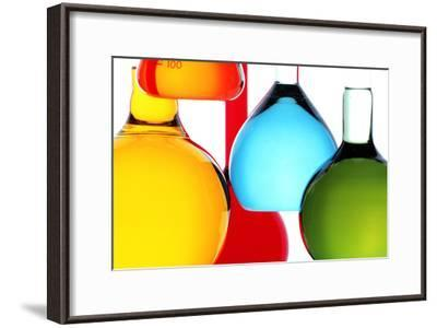 Assortment of Laboratory Glassware Flasks-Colin Cuthbert-Framed Photographic Print