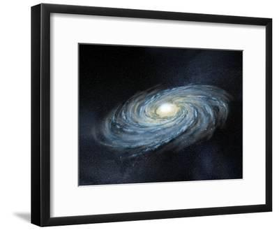 Milky Way Galaxy, Artwork-Henning Dalhoff-Framed Photographic Print