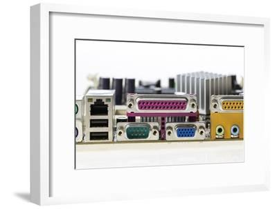 Motherboard Connectors-Colin Cuthbert-Framed Photographic Print