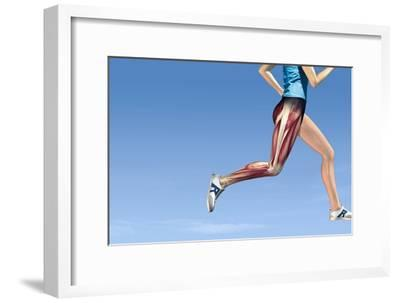 Leg Muscles In Running, Artwork-Henning Dalhoff-Framed Photographic Print