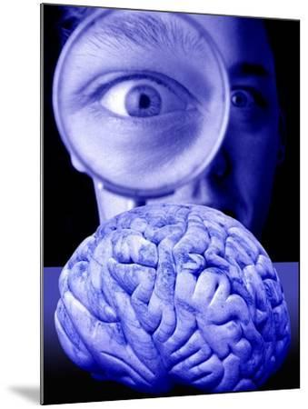Studying the Brain, Conceptual Image-Victor De Schwanberg-Mounted Photographic Print