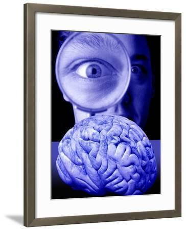 Studying the Brain, Conceptual Image-Victor De Schwanberg-Framed Photographic Print