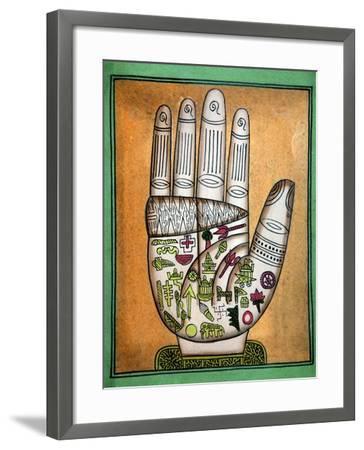 Indian Palmistry Map-Victor De Schwanberg-Framed Photographic Print
