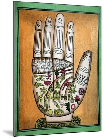 Indian Palmistry Map-Victor De Schwanberg-Mounted Photographic Print