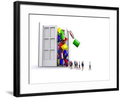 Online Information-Christian Darkin-Framed Photographic Print