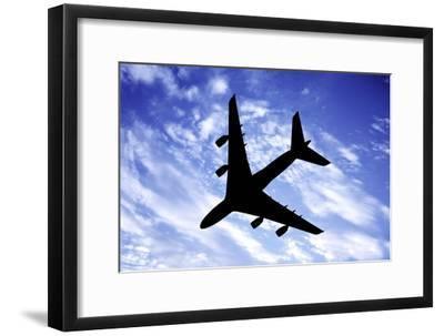 Aeroplane In Flight-Victor De Schwanberg-Framed Photographic Print
