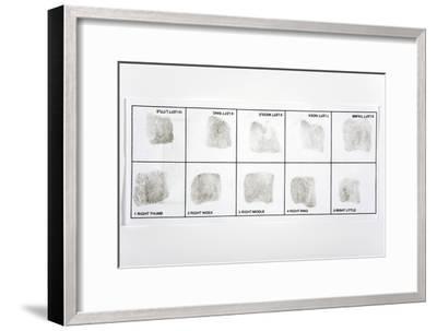 Fingerprint Record Card-Victor De Schwanberg-Framed Photographic Print