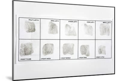 Fingerprint Record Card-Victor De Schwanberg-Mounted Photographic Print
