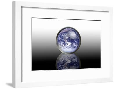 Earth In a Crystal Ball, Conceptual Image-Victor De Schwanberg-Framed Photographic Print