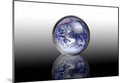 Earth In a Crystal Ball, Conceptual Image-Victor De Schwanberg-Mounted Photographic Print