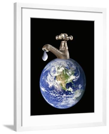 Water Conservation, Conceptual Image-Victor De Schwanberg-Framed Photographic Print