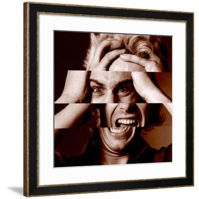 Stressed Man-Victor De Schwanberg-Framed Photographic Print