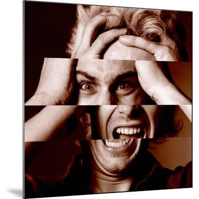 Stressed Man-Victor De Schwanberg-Mounted Photographic Print