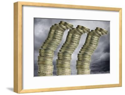 Unstable Economy, Conceptual Image-Victor De Schwanberg-Framed Photographic Print