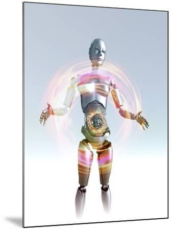 Humanoid Robot, Artwork-Victor Habbick-Mounted Photographic Print