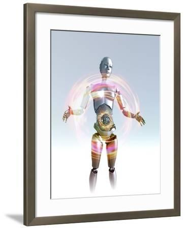 Humanoid Robot, Artwork-Victor Habbick-Framed Photographic Print