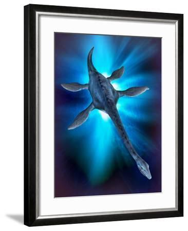 Loch Ness Monster, Artwork-Victor Habbick-Framed Photographic Print