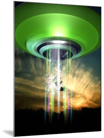 UFO Cattle Abduction, Conceptual Artwork-Victor Habbick-Mounted Photographic Print