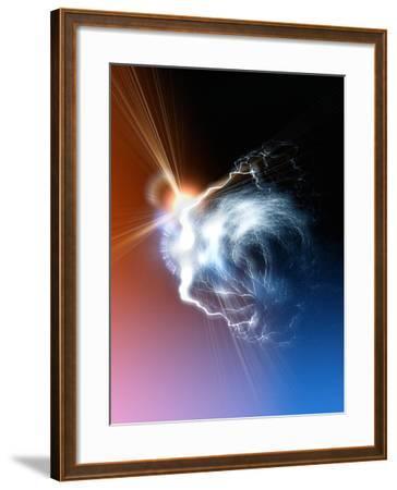 Ball Lightning, Artwork-Victor Habbick-Framed Photographic Print