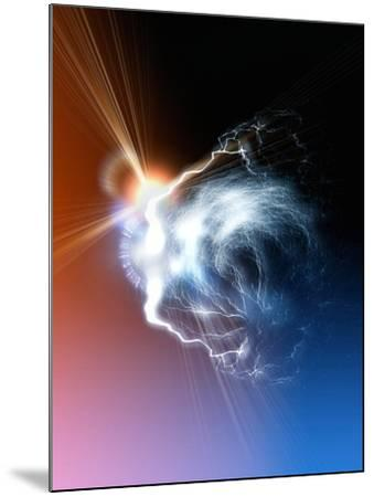 Ball Lightning, Artwork-Victor Habbick-Mounted Photographic Print