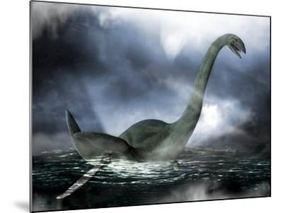 Loch Ness Monster, Artwork-Victor Habbick-Mounted Photographic Print
