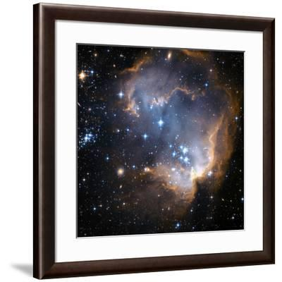 Starbirth Region NGC 602-Hubble Heritage-Framed Photographic Print