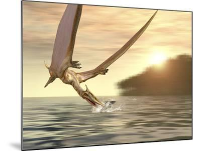 Pterosaur Fishing, Computer Artwork-Roger Harris-Mounted Photographic Print