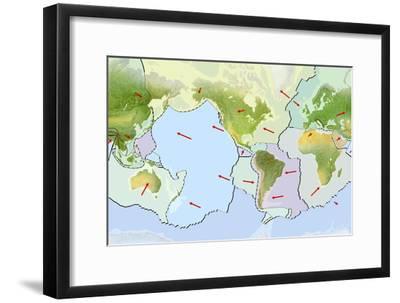 Earth's Tectonic Plates-Gary Hincks-Framed Photographic Print
