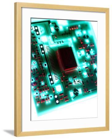 Circuit Board-Tek Image-Framed Photographic Print
