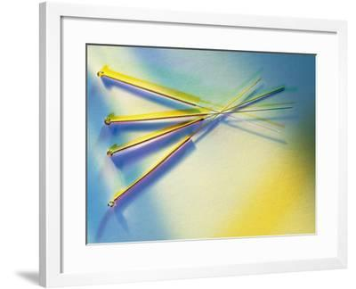 View of Several Acupuncture Needles-Tek Image-Framed Photographic Print